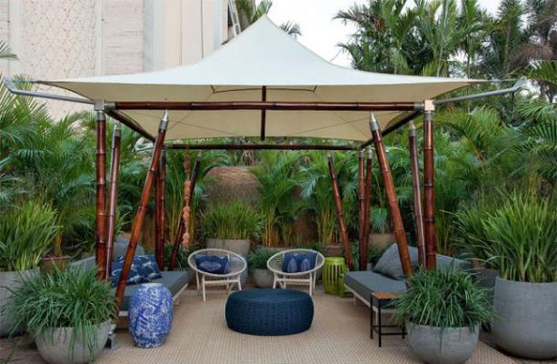 Decore o Jardim Com Uma Tenda (foto: internet)